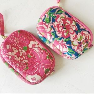lilly pulitzer • pink printed tech case clutches